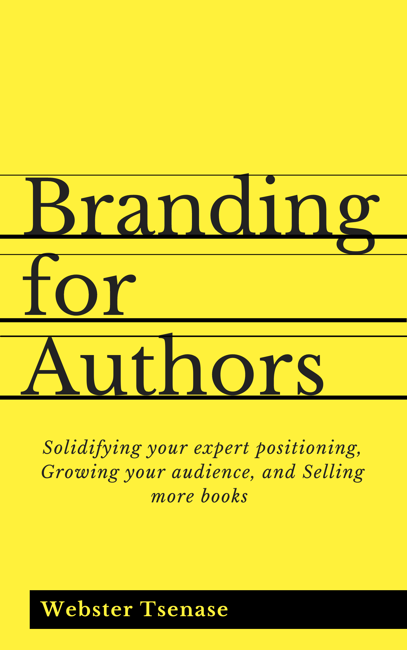 Branding for Authors book